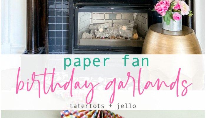 DIY Paper Fan Birthday Garlands