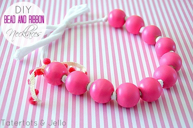 DIY Gumball necklace and 1 month of free kids craft ideas to do at home.