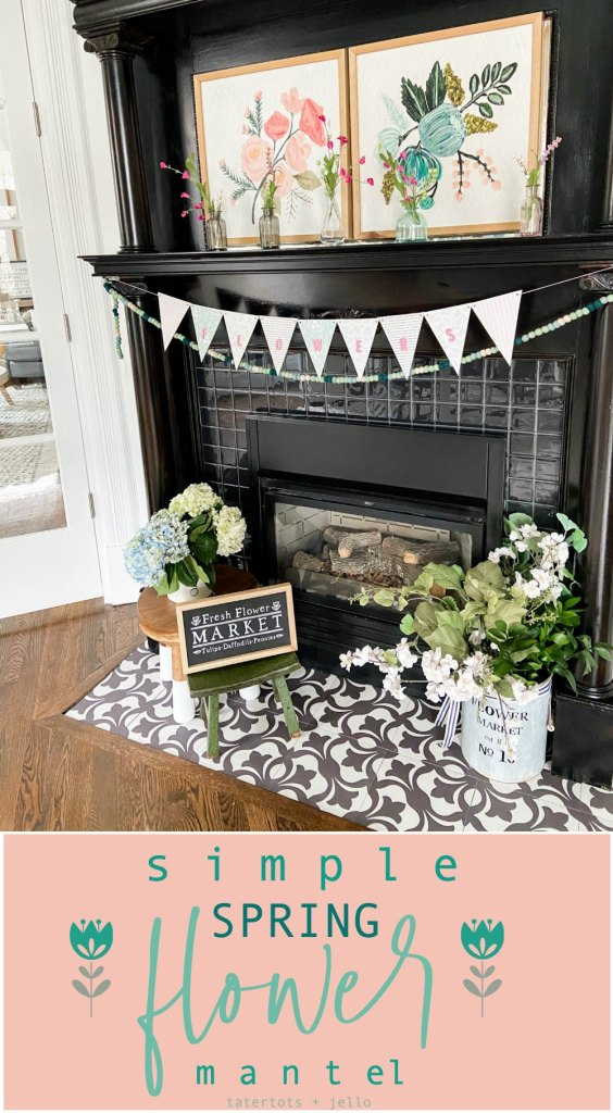 Spring Flower Mantel
