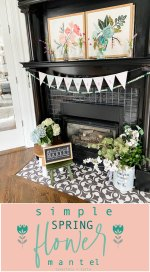 Simple Spring Flower Mantel