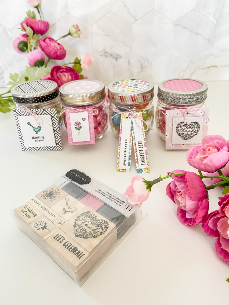 Hey! Hello! Jen Hadfield scrapbook stamps available at JoAnn Stores and onlinr.