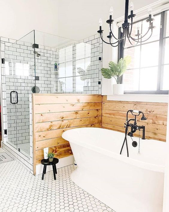 20 Modern Farmhouse and Cottage Bathroom Tile Ideas on Farmhouse Tile Bathroom Floor  id=65619