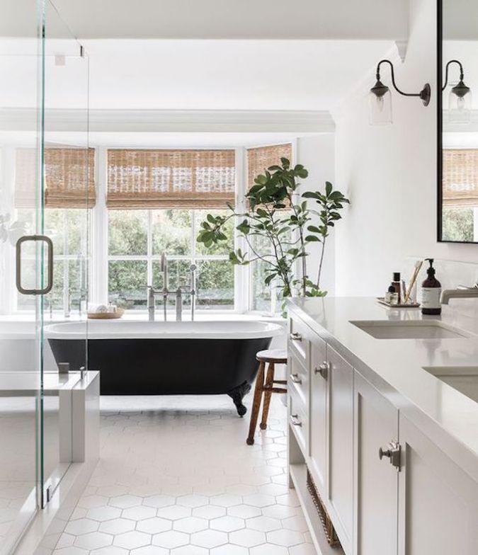 modern farmhouse cottage bathroom tile ideas.