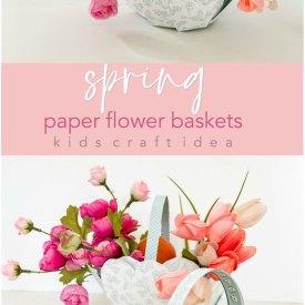 Spring Paper Flower Basker Kids Craft