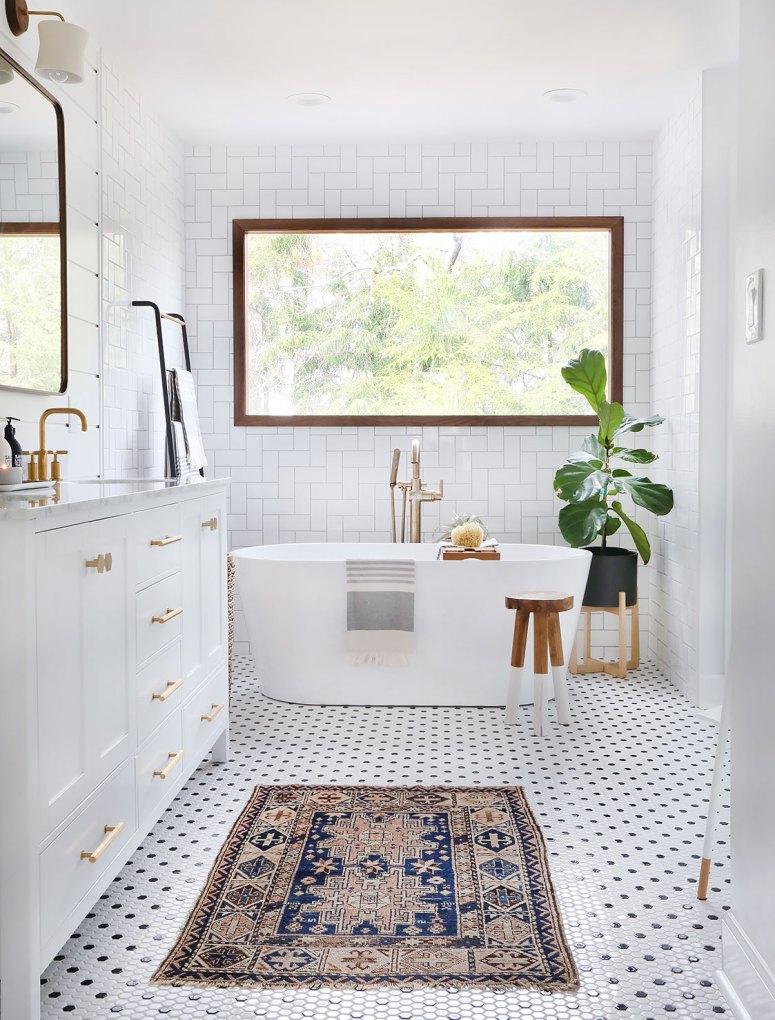 black and white modern farmhouse tile ideas.