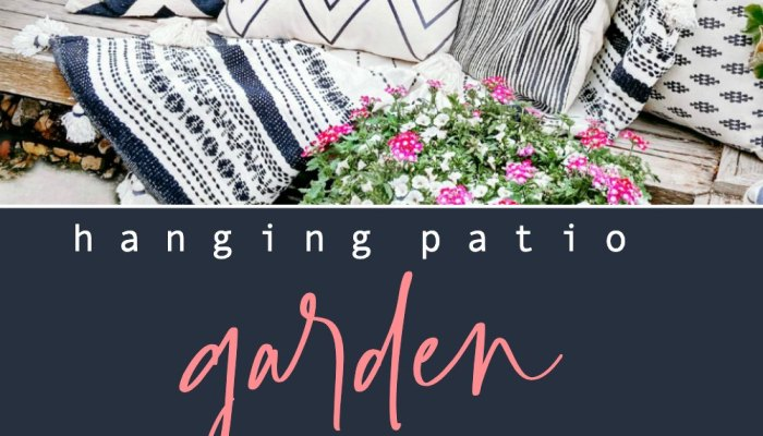 DIY Hanging Patio Garden