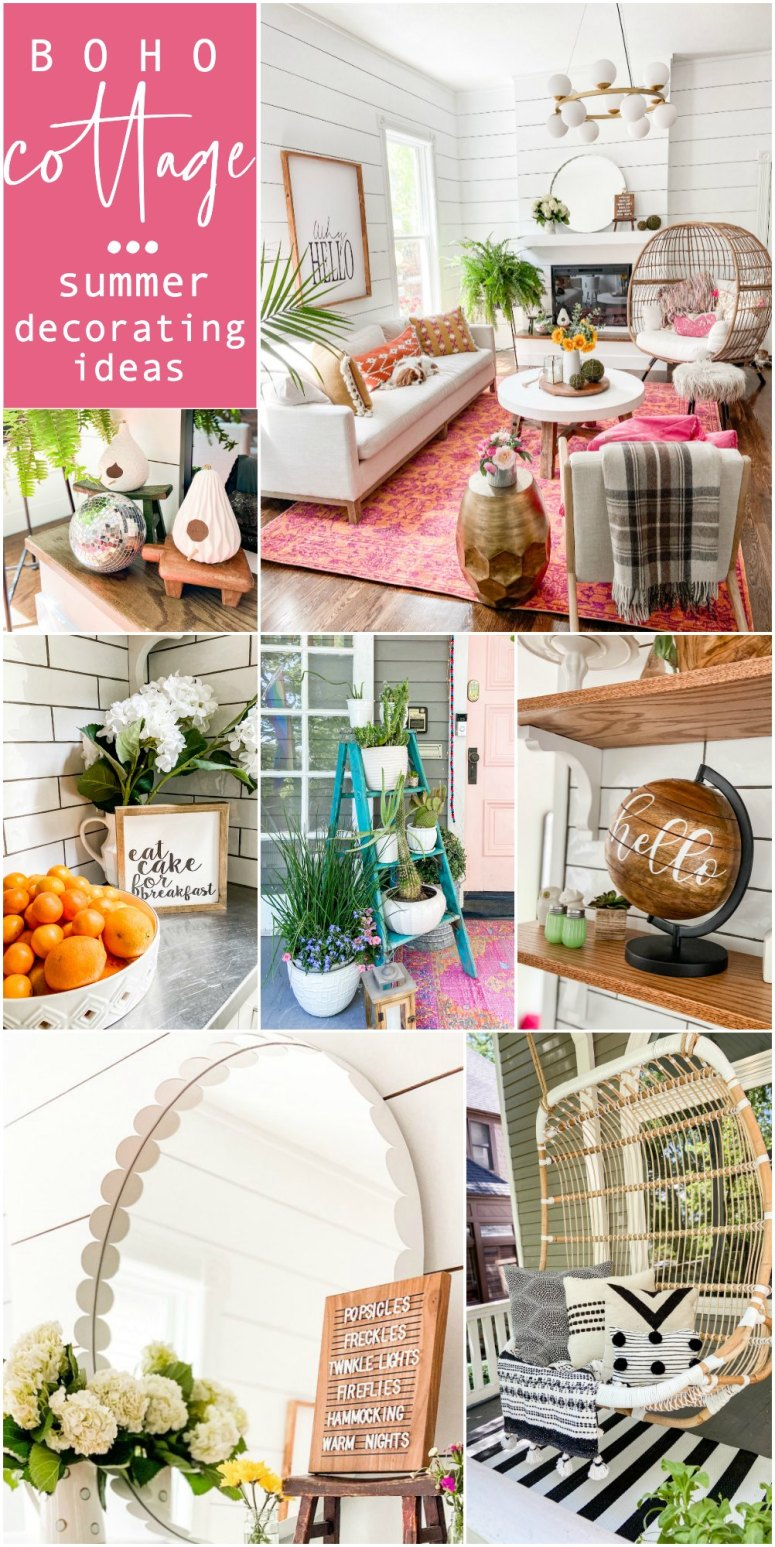 Boho Cottage Summer Home Tour. Bring a little boho summer color and flair to your cottage home with these bright and happy ideas!