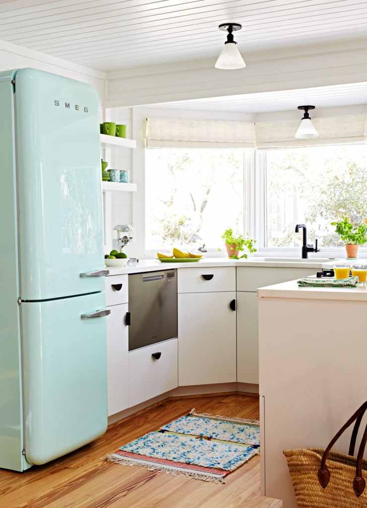 Mint smeg cottage kitchen