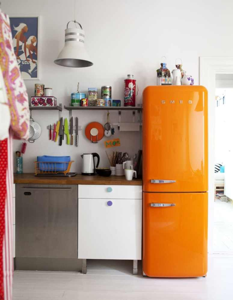 Orange Smeg Kitchen Idea