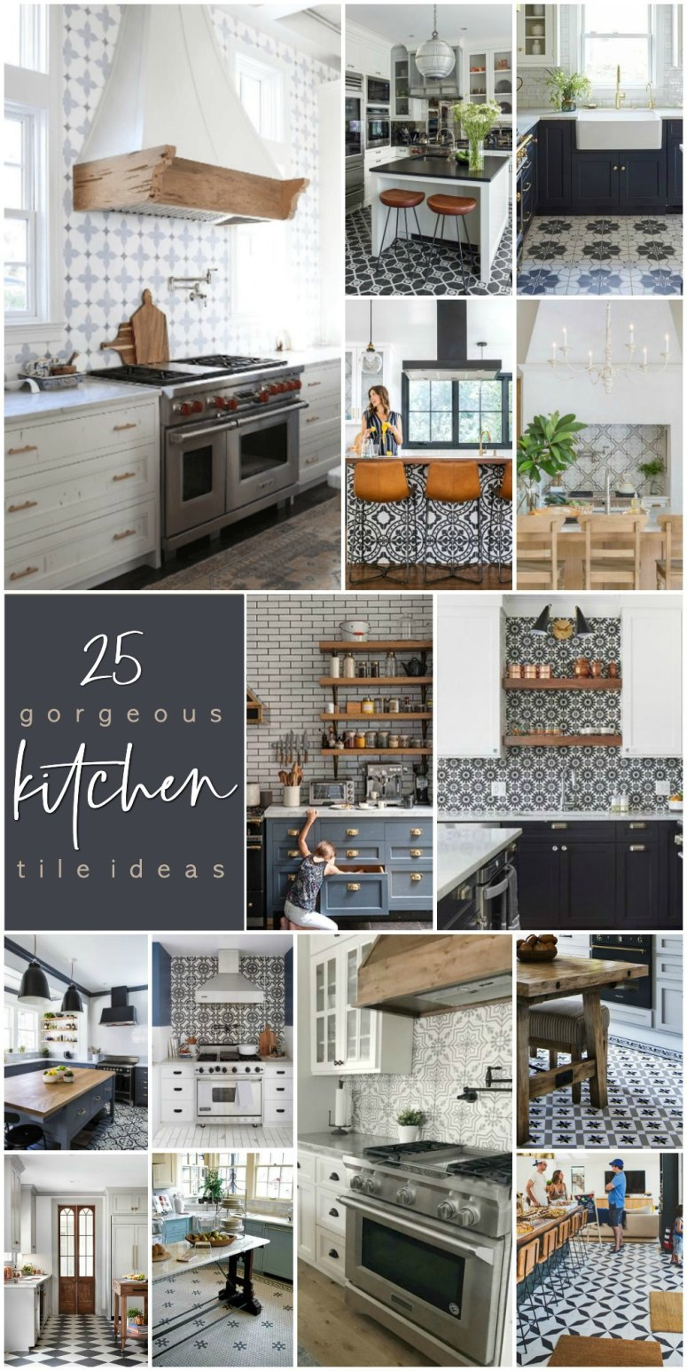 25 Gorgeous Modern Farmhouse and Cottage Kitchen Tile Ideas. Update your kitchen easily with tile. There are some gorgeous on-trend ways to bring style and personality to your home!