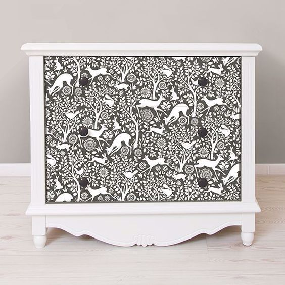 Charcoal Merriment removable wallpaper from Wallpops