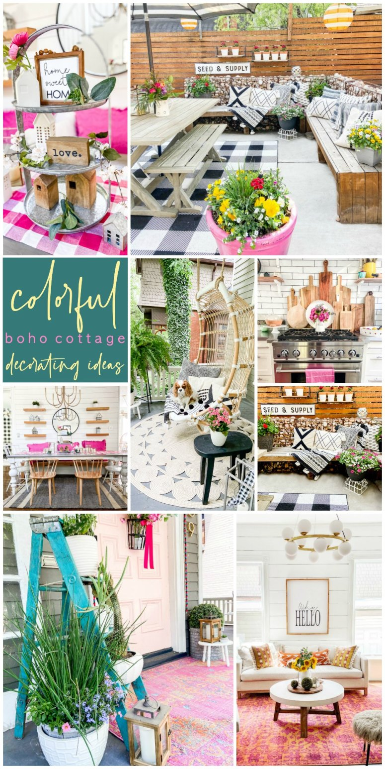 Colorful Boho Cottage Home Tour