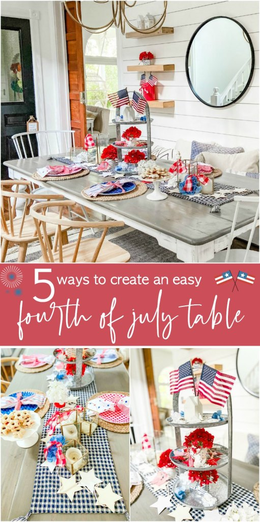 5 Ways to create an easy fourth of july table