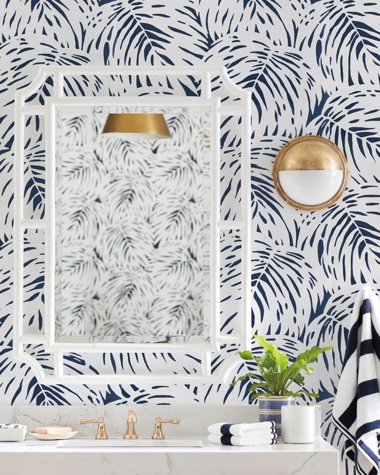 Palm wallpaper at Serena and Lily