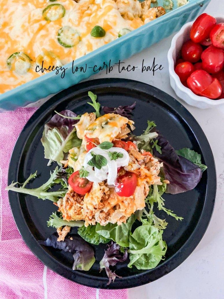 Casserole de tacos à faible teneur en glucides