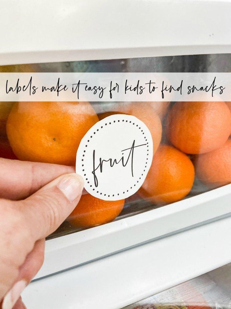 Free printable fridge organizing labels to print off!