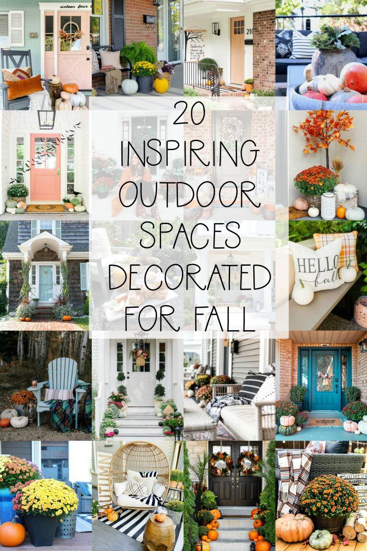 20 espaces extérieurs d'automne inspirants!