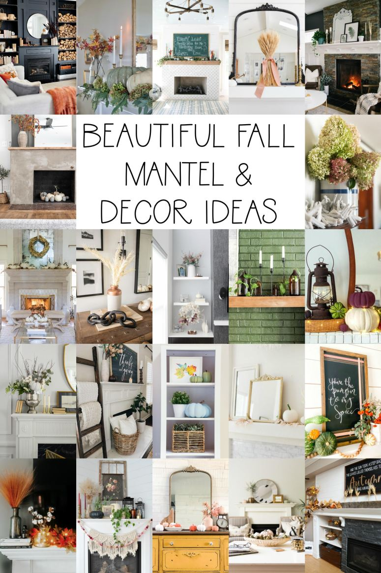 Beautiful Fall Mantel and Decor Ideas