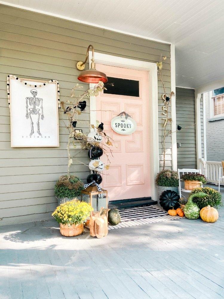 Idées fantasmagoriques d'Halloween pour porche