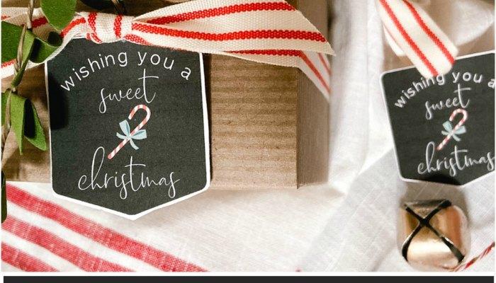 Candy Cane Printable Christmas Tags
