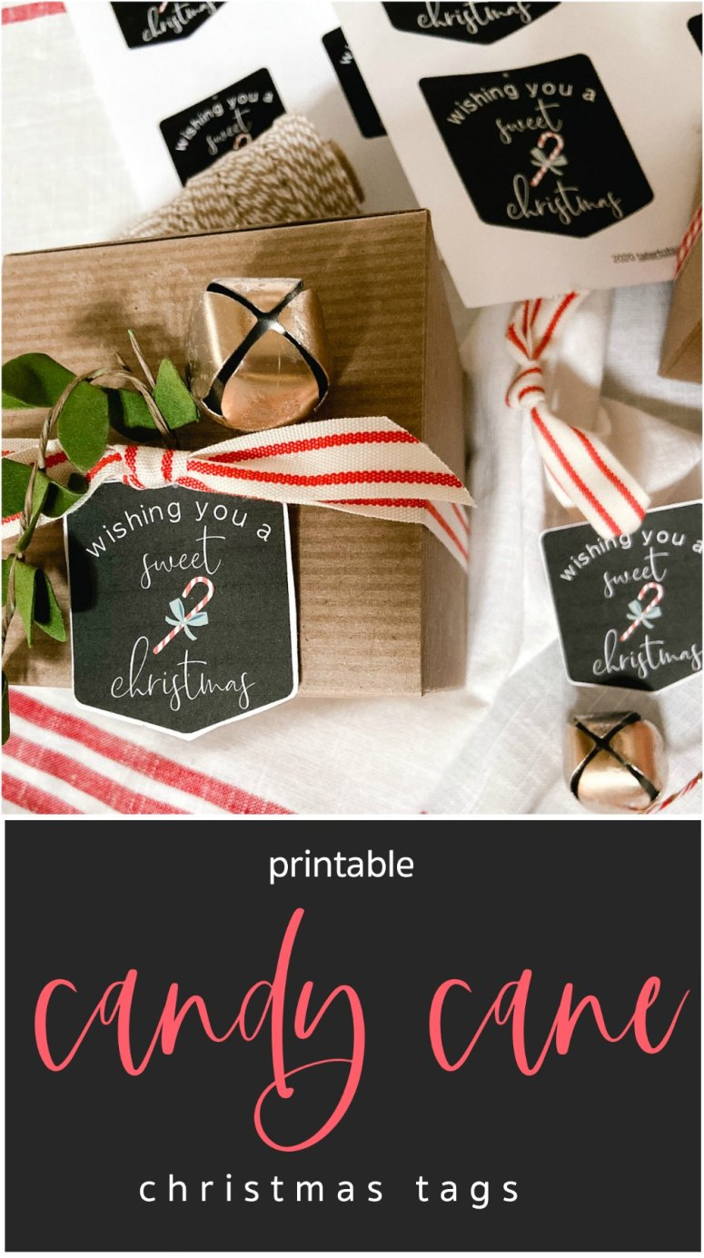 Candy Cane Printable Christmas Gift Tags. Print these whimsical candy cane tags for easy gift giving this holiday season.