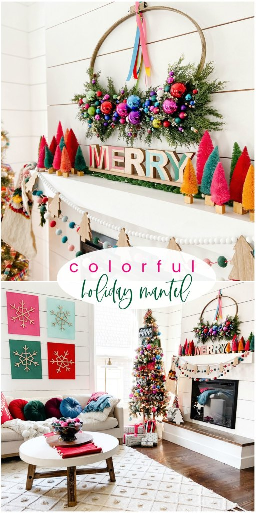 Colorful Holiday Mantel Ideas