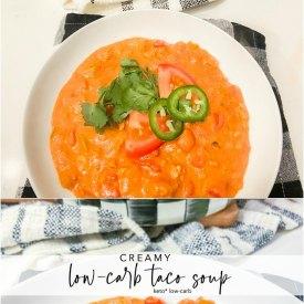 Creamy Low CarbTaco Soup Keto Recipe