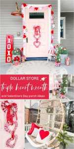 Dollar Store Triple Heart Valentine's Day Wreath