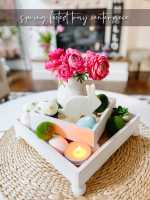 DIY Spring Footed Stacking Tray Centerpiece