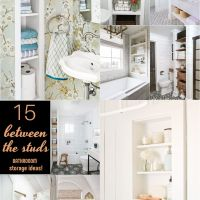 15 Between the Studs Bathroom Storage Ideas