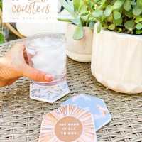 Summer Decoupage Concrete Coasters
