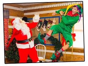 Santa and Elf Christmas in July