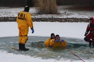 Ice rescue training 3