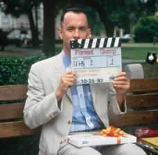 Sul set di Forrest Gump, 1993.