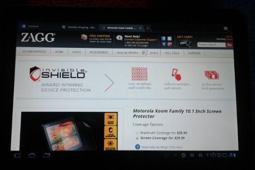 Site zagg.com no Xoom.