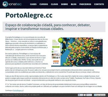 Página do case PortoAlegre.cc