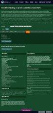 Página do curso de Cloud Computing