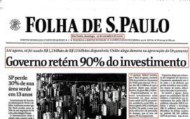 Governo retém 90% do investimento (10/setembro/2000)