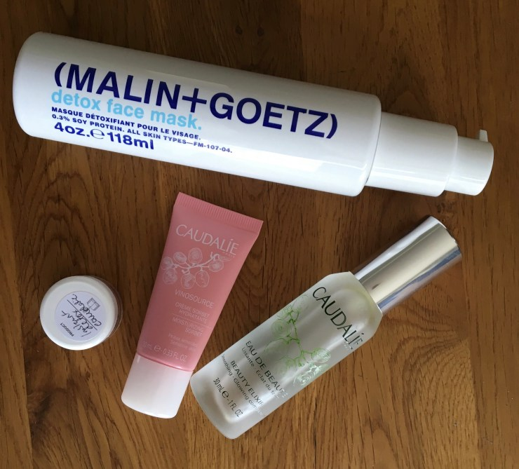 Malin+Goetz Detox face mask and Caudalie