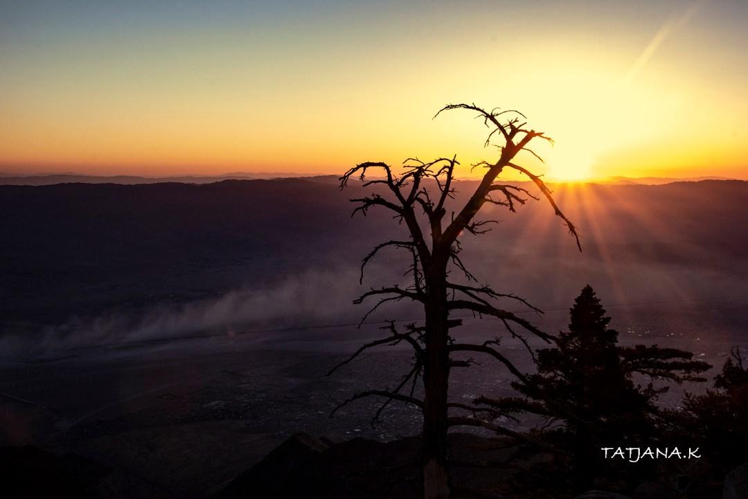 Sunrise from Mt San Jacinto