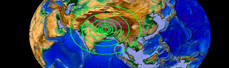 INDIA CHINA TIBET NEPAL EARTH OPENS SHAKES, RATTLES AND ROLLS STATE OF EMERGENCY