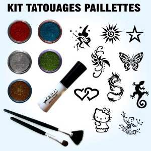 kit paillettes 10 pochoirs