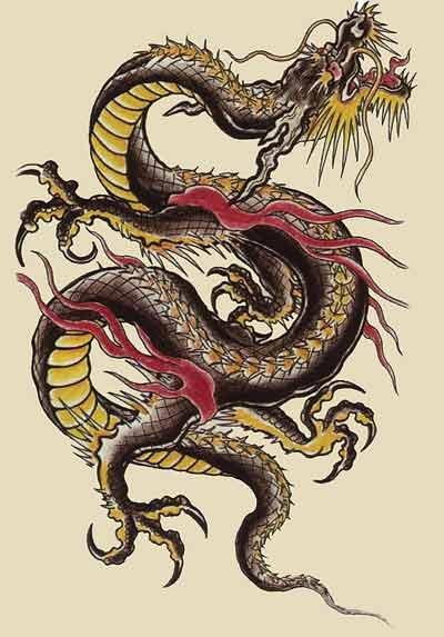 Le tatouage japonais tatouage poignet - Dragon japonais dessin ...