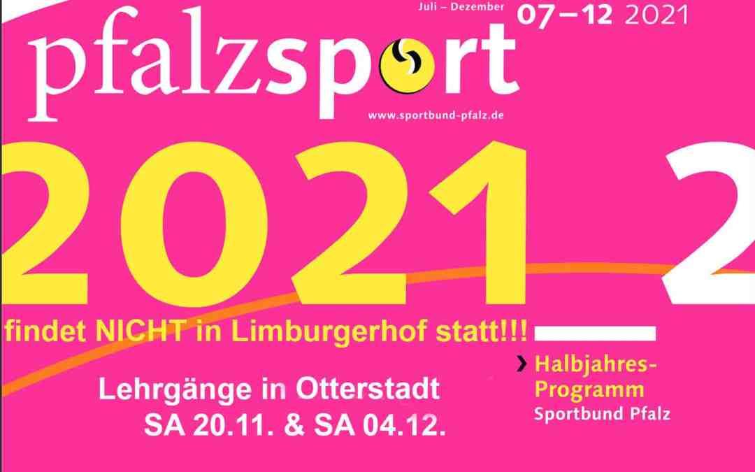 Zwei Sportbund-Lehrgänge am 20.11. und 4.12. in Otterstadt