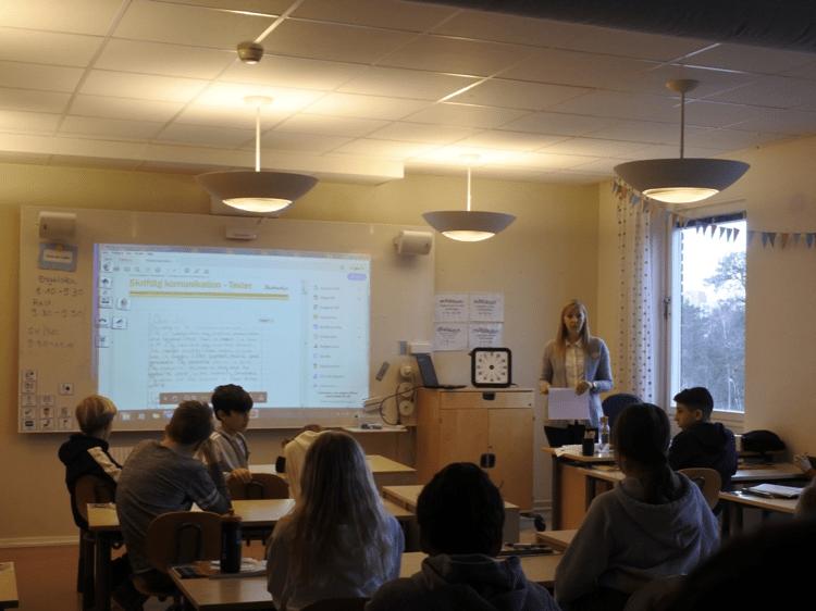 スウェーデンの小学校の授業の様子