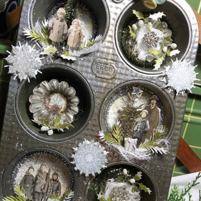 A Christmas Muffin Tin Vignette