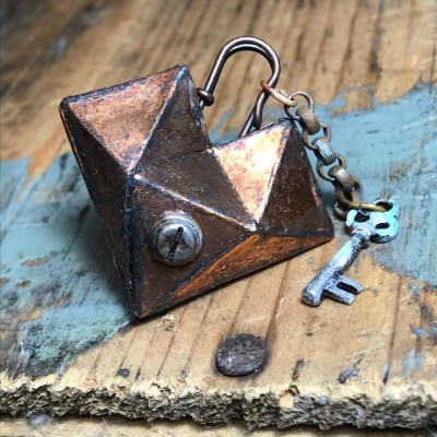 A Mini Tutorial: A Faceted Heart Steampunk Locket