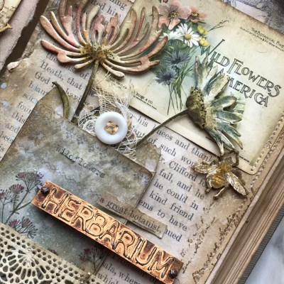 Altering a Vintage Book: A Botanist's Collection