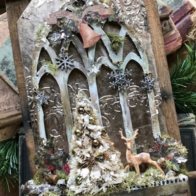 Christmas Memories- A Cathedral Window