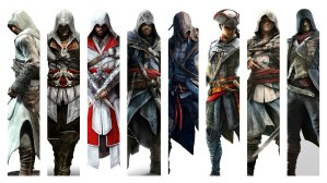 assassin_s_creed_franchise_protagonist_wallpaper_by_theomeganerd-d7tigfh